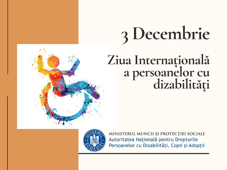 3 decembrie 2020, Ziua Internațională a Persoanelor cu Dizabilități