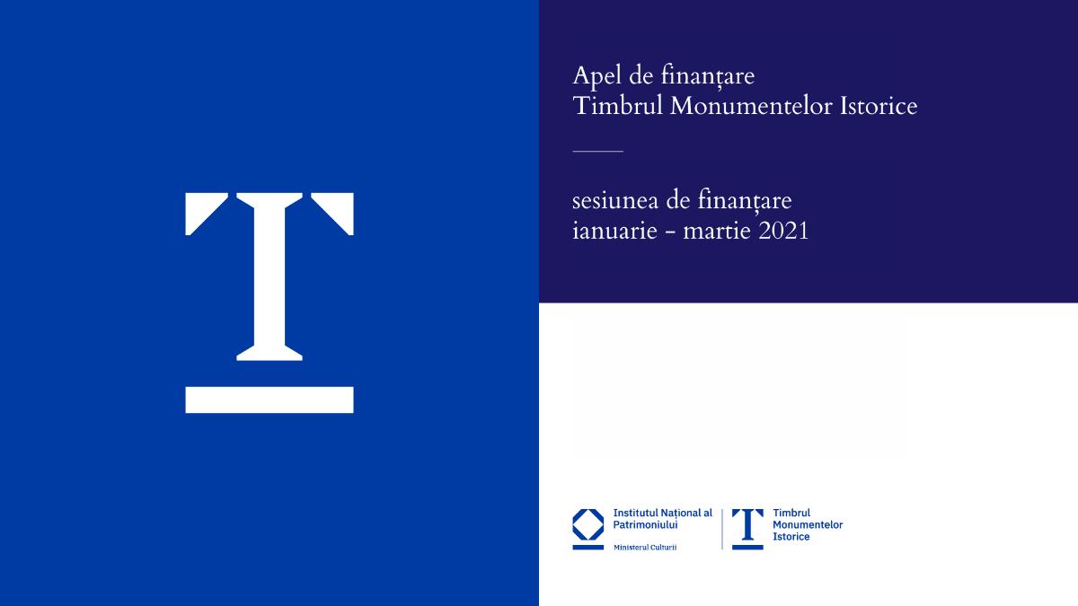 Apel de proiecte finanțate prin Timbrul Monumentelor Istorice sesiunea I 2021