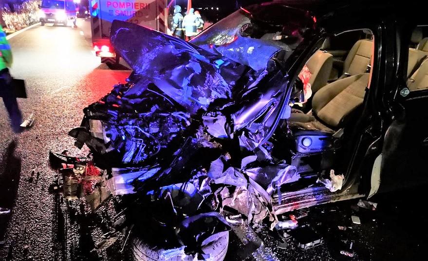 Constantean ranit grav intr-un accident rutier produs la Caineni