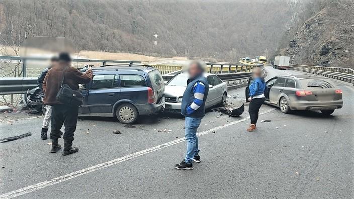 Accident rutier la Calimanesti in punctul Carligul Mic