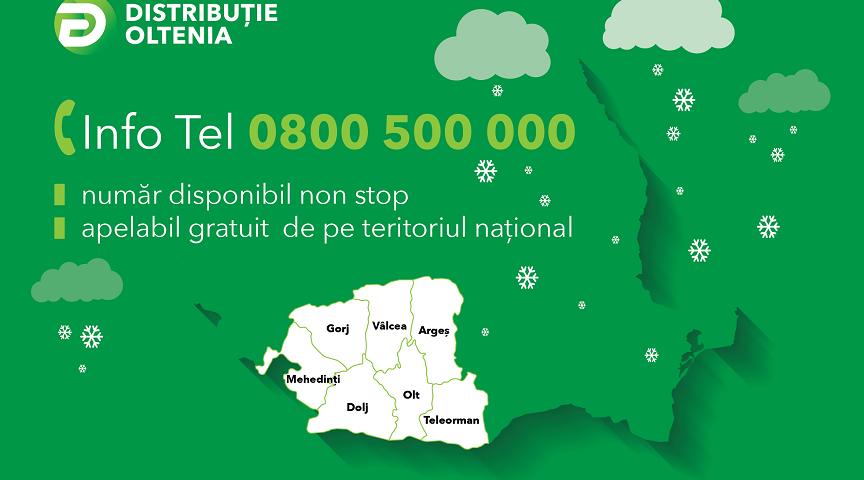 Distribuţie Energie Oltenia cea mai mare parte a incidentelor provocate de condițiile meteo în județul Vâlcea, au fost remediate