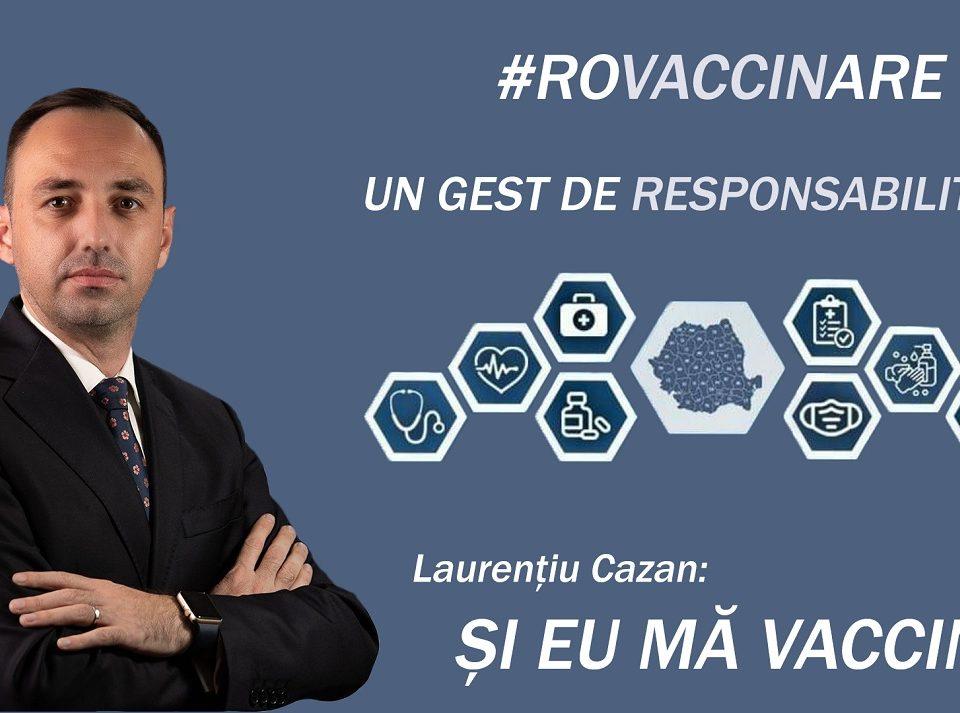 Deputatul de Vâlcea, Laurențiu Cazan, susține că vaccinul anti COVID 19 este important