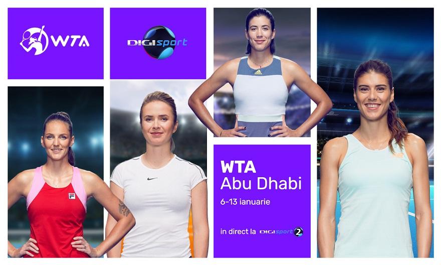 Tenisul feminin ia startul la Abu Dhabi - Digi Sport