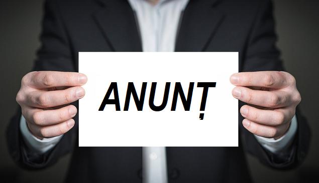ANUNȚ - SC Blazon SRL aduce la cunoștință publicului interesat