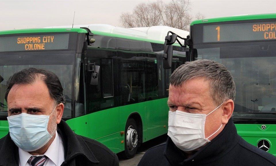 autobuze Mercedes Benz achizitionate cu fonduri europene au ajuns la Ramnicu Valcea