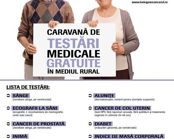 """Caravana de testări medicale gratuite în mediul rural """"Nu am făcut destul"""" ajunge și în Vâlcea"""