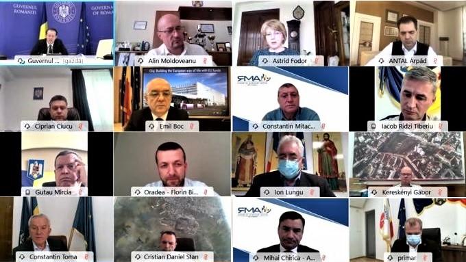 Primarul Mircia Gutău și alți 18 edili din conducerea AMR s-au întâlnit online cu premierul Florin Cîțu