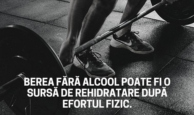 Berea fara alcool varianta de sursa de hidratare