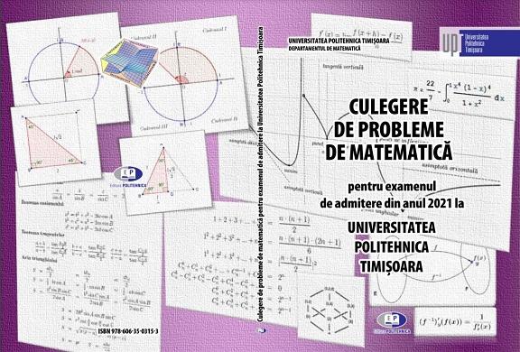 Elevii din Vâlcea pot accesa gratuit culegerea de probleme de matematică, utilă pentru admiterea la Politehnica Timișoara
